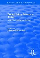 Social Policy Reform in China: Views from Home and Abroad (Hardback)