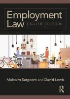 Employment Law: Eighth edition (Paperback)