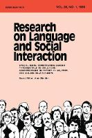 Constituting Gender Through Talk in Childhood: Conversations in Parent-child, Peer, and Sibling Relationships:a Special Issue of research on Language and Social interaction (Paperback)