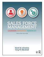Sales Force Management: Leadership, Innovation, Technology (Paperback)