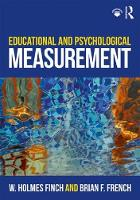 Educational and Psychological Measurement (Paperback)
