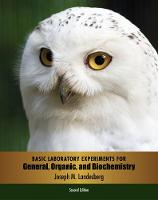 Basic Laboratory Experiments for General, Organic, and Biochemistry (Paperback)