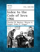 Index to the Code of Iowa 1966 (Paperback)