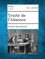 Traite de L'Absence (Paperback)