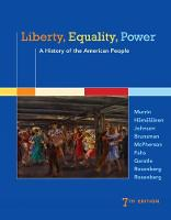 Liberty, Equality, Power: A History of the American People (Hardback)