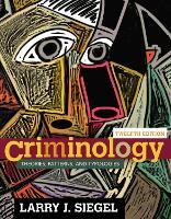 Criminology: Theories, Patterns, and Typologies (Hardback)