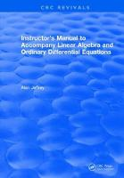 Instructors Manual to Accompany Linear Algebra and Ordinary Differential Equations (Hardback)