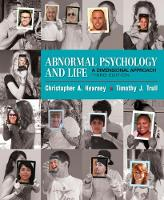 Abnormal Psychology and Life: A Dimensional Approach (Hardback)