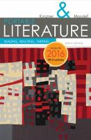 PORTABLE Literature: Reading, Reacting, Writing, 2016 MLA Update (Paperback)