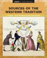 Sources of the Western Tradition Volume II