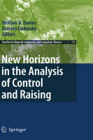 New Horizons in the Analysis of Control and Raising - Studies in Natural Language and Linguistic Theory 71 (Hardback)