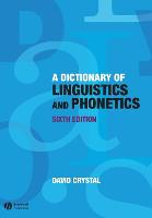 A Dictionary of Linguistics and Phonetics - The Language Library (Paperback)