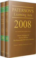 Paterson's Licensing Acts 2008 (Hardback)