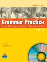 Grammar Practice for Elementary Student Book with Key Pack - Grammar Practice