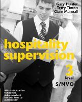 Hospitality Supervision S/NVQ Level 3 (Paperback)