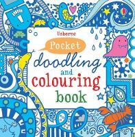 Blue Pocket Doodling & Colouring Book