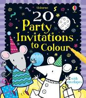 20 Party Invitations to Colour - Activity and Puzzle Cards