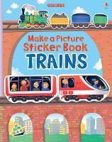 Trains - Make a Picture Sticker Books (Paperback)