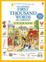 First Thousand Words In German Sticker Book - First Thousand Words (Paperback)