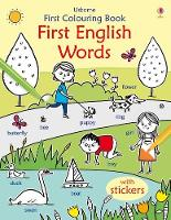 First Colouring Book First English - First Colouring Books with stickers (Paperback)