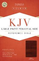 KJV Large Print Personal Size Reference Bible, Brown LeatherTouch (Leather / fine binding)