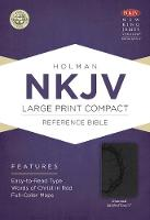 NKJV Large Print Compact Reference Bible, Purple LeatherTouch (Leather / fine binding)