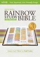 NIV Rainbow Study Bible, Purple LeatherTouch (Hardback)