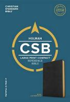 CSB Large Print Compact Reference Bible, Black LeatherTouch (Leather / fine binding)