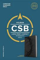 CSB Large Print Compact Reference Bible, Charcoal LeatherTouch (Leather / fine binding)