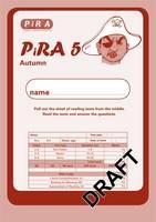Progress in Reading Assessment Test 5, Autumn Pk10 - PiRA