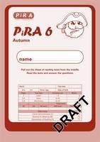 Progress in Reading Assessment Test 6, Autumn Pk10 - PiRA