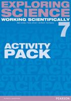Exploring Science: Working Scientifically Activity Pack Year 7 - Exploring Science 4
