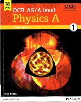 OCR AS/A level Physics A Student Book 1 - OCR GCE Science 2015 (Paperback)
