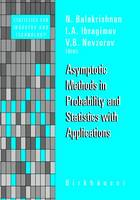 Asymptotic Methods in Probability and Statistics with Applications - Statistics for Industry and Technology (Paperback)