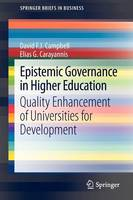 Epistemic Governance in Higher Education: Quality Enhancement of Universities for Development - SpringerBriefs in Business (Paperback)