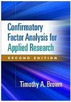 Confirmatory Factor Analysis for Applied Research - Methodology in the Social Sciences (Hardback)