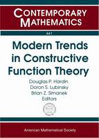 Modern Trends in Constructive Function Theory - Contemporary Mathematics (Paperback)