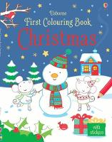 First Colouring Book Christmas - First Colouring Books with stickers (Paperback)