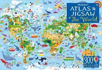 Usborne Atlas and Jigsaw The World (Paperback)