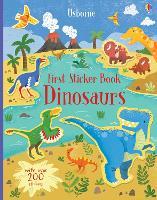 First Sticker Book Dinosaurs - First Sticker Books series (Paperback)