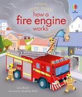 Peep Inside how a Fire Engine works - Peep Inside (Board book)