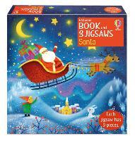 Usborne Book and 3 Jigsaws: Santa - Usborne Book and 3 Jigsaws (Board book)