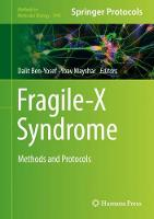 Fragile-X Syndrome: Methods and Protocols - Methods in Molecular Biology 1942 (Hardback)