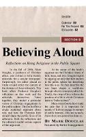 Believing Aloud (Hardback)