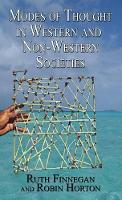 Modes of Thought in Western and Non-Western Societies (Hardback)
