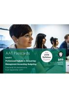 AAT Management Accounting Budgeting: Passcards (Spiral bound)