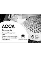 ACCA Financial Management: Passcards (Spiral bound)
