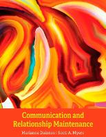 Communication and Relationship Maintenance (Paperback)