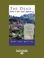 The Dead Don't Get Out Much: A Camilla MacPhee Mystery (Paperback)