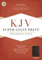 KJV Super Giant Print Reference Bible, Black Bonded Leather (Leather / fine binding)